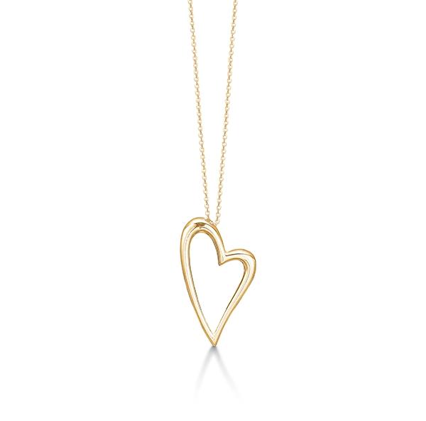 18b5cd98e48 Hjerte halskæde forgyldt - Køb Hjerte halskæde forgyldt billigt her.