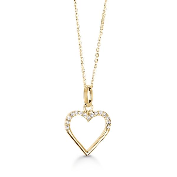 d3bcc4b02f3 Hjerte halskæde forgyldt - Køb Hjerte halskæde forgyldt billigt her.