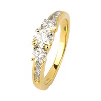 Fashion ring i guld - 1.00 ct diamanter | By Gotte´S