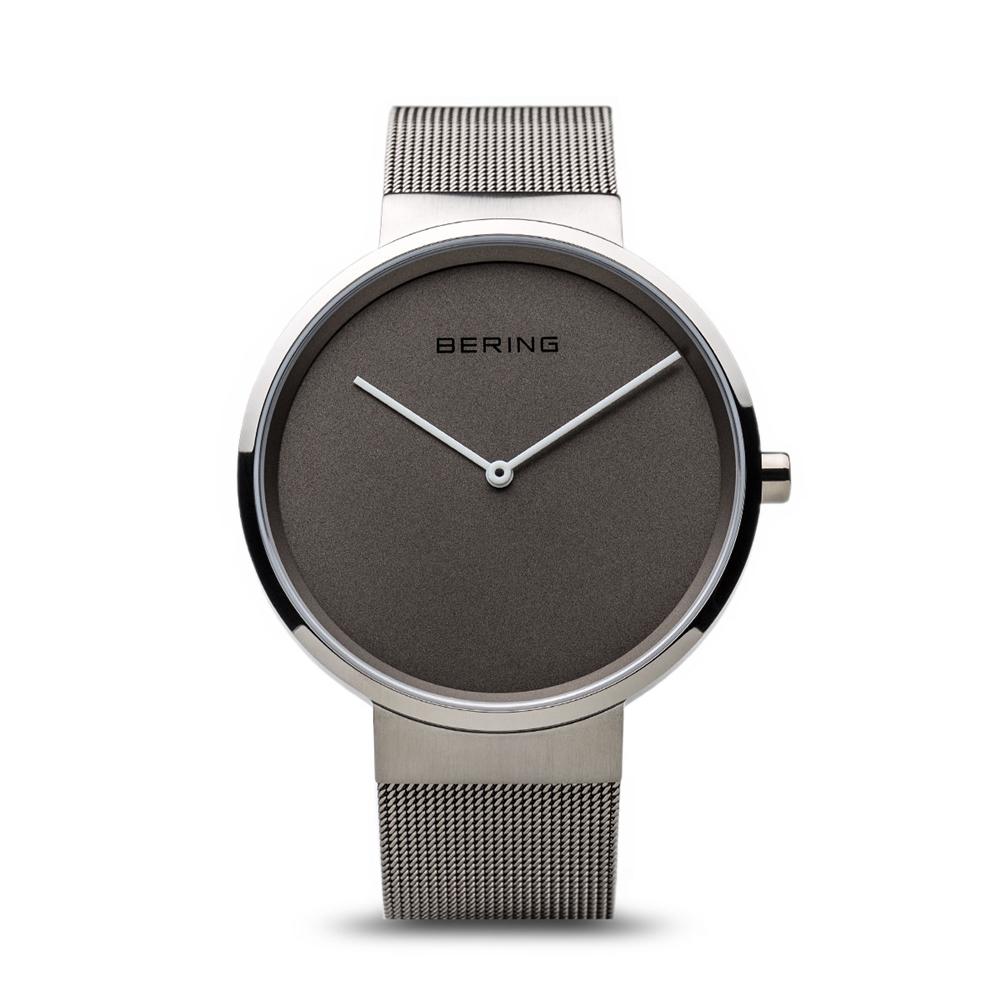 2a290894571 Herre ur fra Bering Time, Classic | poleret/børstet sølv | 14539-077 ...
