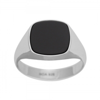 Herre ring rho. sølv med sort onyx | Son of Noa
