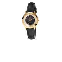 Collect ur forgyldt m. sort skive | Christina Watches