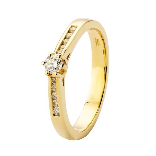 Fashion ring i guld 0.22 ct | By Gotte´S
