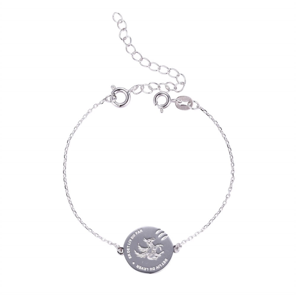 e47b6ceceaf LIVSVALG' armbånd sølv - Køb 'LIVSVALG' armbånd sølv billigt her.