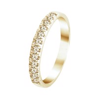 Alliancering 0,25 ct rødguld | By Gotte´S