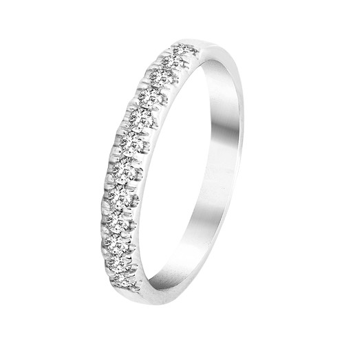 Alliancering 0,25 ct hvidguld | By Gotte´S