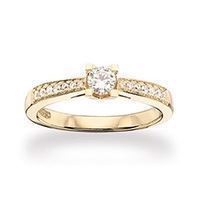 Kleopatra Queen ring 0,15 W/SI 14 kt