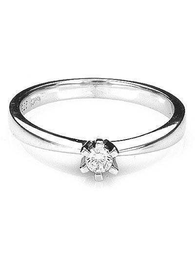 Solitaire ring med brillant